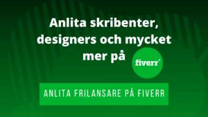 Annons för frilansare hos Fiverr